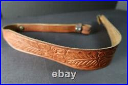 Hunter Co. 27-162 Tooled Leather Rifle Sling 32 Long X 2 Wide