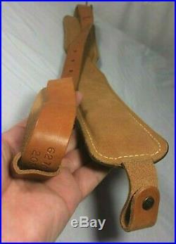 Hunter Padded Tooled Leather Rifle Sling with Embossed Deer Elk (Unused, Mint)