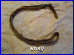 ISRAELI marked K98 98K MAUSER RIFLE leather SLING w beltkeeper and buckle