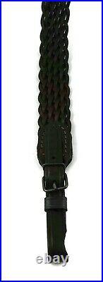 Knit Genuine Leather Rifle Shotgun Ammo Sling Shoulder Strap Hunting