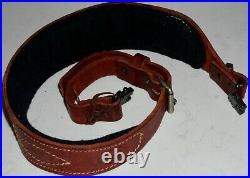 LINC Benuine Steer Hide Leather Rifle Sling. AUSTRALIA