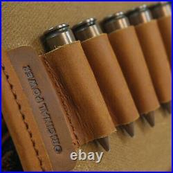 Leather Gun Ammo Cartridge Buttstock + Rifle Sling For. 30-30 357.38 USA Stock