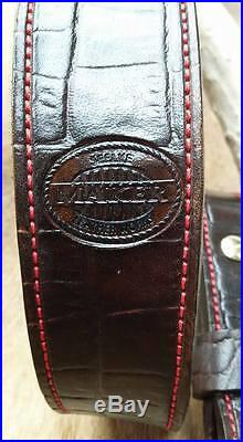 Leather Rifle Sling, Brown Leather, Handcrafted in the USA, Bison, Economy AA