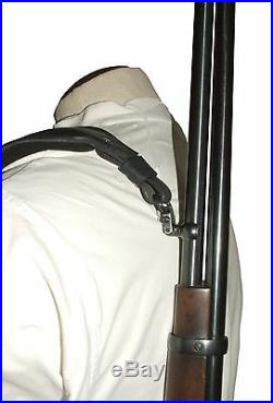 Leather Rifle Sling, Padded Swivels Available -Choice of Colors Made in U. S. A