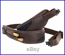 Leather rifle sling Blaser with wool