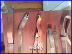 Lot 5 vintage leather Garand type rifle slings 1 Boyt