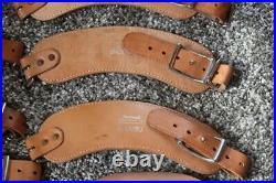 Lot of 10 Vintage Al Freeland Leather Shooting Sling Cuffs & 2 Sling straps. NOS