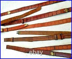 Lot of Rifle Slings (5) Leather + Different colors, HUNTER included