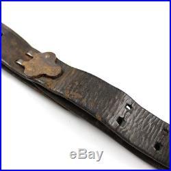 M1907 M07 M1 Garand Springfield Rifle Leather Sling Metal Buckle- Field Used