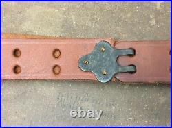 MRT Garand. 30-06 Springfield leather & brass rifle sling 48 dark leather