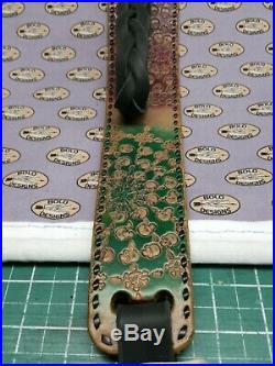 Mandela inspired leather rifle sling with skulls