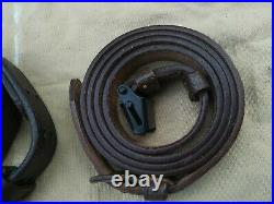Mauser K98 & US M1 GARAND leather Rifle Slings. Nice reproductions