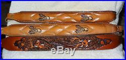 NOS 3 Vintage AA&E Leather Craft Rifle/Shotgun Slings Gun Strap Padded