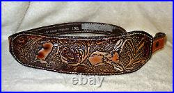 NOS Vintage Jump Buck Head Scene Rifle/Shotgun Gun Sling Padded Top Grain #1001