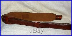 NOS Vtg AA&E Leather Craft Rifle/Shotgun Deer/Elk Sling Gun Strap (3053) Signed