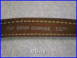 NOSVintage AA&E Padded Top Grain Dark Brown Leather Rifle Shotgun Gun Sling