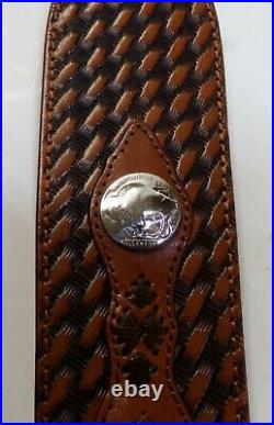 New Browning Buffalo Nickel basket weave sling with horse hair inlays #1455