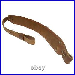New Leather Ammo Cartridge Shell Holder Rifle Gun Sling Carry Straps with Swivel