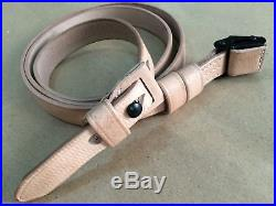 New WWII German K98 98K RIFLE SLING (Repro) NATURAL Leather (Lot of 20 Units)