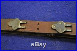 ORIGINAL WWI US M1907 LEATHER RIFLE SLING FOR 1903 RIFLE MFG. MK'd & DATED 1918