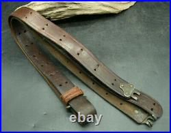 ORIGINAL WWII US M1 Garand Rifle Leather Sling Army USMC (P5)