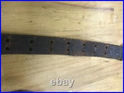 Original Complete MilsCo 1943 Leather Rifle Sling