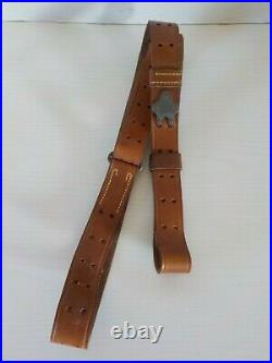 Original Early Vietnam War 1962 M1 Garand Leather Rifle Sling
