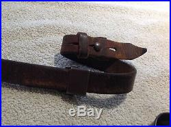 Original German WW2 Mauser K98 Rifle Leather Sling