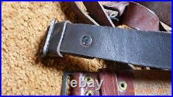 Original Russian Romanian Leather Rifle Sling Balkan War Surplus lot of 10