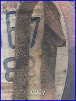 Original WW2 German K98 Mauser Rifle Sling Dark Brown Leather Wermacht 1940s