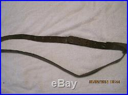 Original WWI US Army M1907 Leather Rifle Sling 1918 Dated G&K Graton Knight