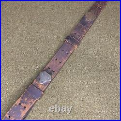 Original WWI US M1907 Leather Rifle Sling Dated 1918 Inspector W. J. D. (#2)
