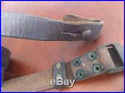 Original WWII Era Italian Carcano Leather Rifle Sling M38 M91