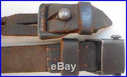 Original WWII German Mauser K98 98K G43 Leather Rifle Sling