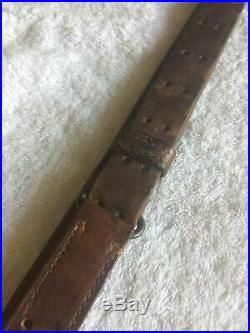 Original WWII M1907 Leather Sling for M1 Garand, 1903 Springfield Rifles