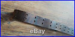 Original WWII MILSCO 1943 Dated M1 Garand Rifle Leather Sling