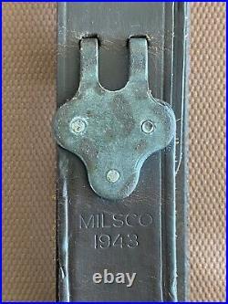 Original WWII U. S. MILSCO 1943 M1 Garand, M1907 Leather Rifle Sling