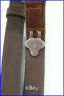 Original WWII U. S. MILSCO 1943 M1 Garand Springfield M1907 Leather Rifle Sling
