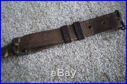 Original Ww2 Japanese Arisaka Rifle Sling Leather/canvas Authentic