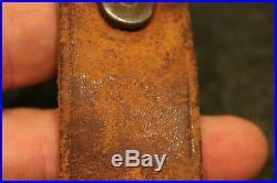 Original Wwii 03 / 03a3 / M1 Garand Leather Rifle Sling Milsco 1944 M1907