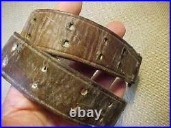 Original Wwii Us Boyt 42 Marked Leather Rifle Sling Short Section Only