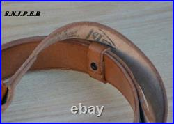 Original genuine leather Mosin-Nagant 91/30 rifle carrying sling 1940s