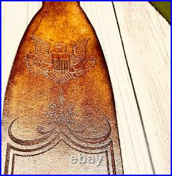 Patriot Personalized Leather Rifle Sling Patriots & Tyrants Thomas Jefferson