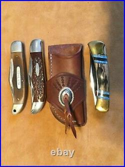 Premium Custom Buck 110 Case 6265 Heavy Leather Knife Sheath Rifle Sling