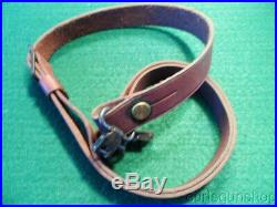 REMINGTON MODEL 700 BDL RIFLE FACTORY LEATHER SLING with QD SWIVELS