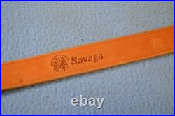 Rare Excellent Leather Savage Rifle Sling 1 Adjustable with Uncle Mike's Swivels