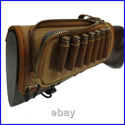 Rifl Buttstock with Sling, Gun Ammo Shell Holder & Rifle Sling Leather Canvas