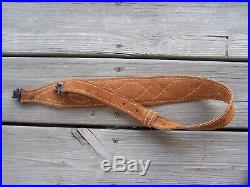 Rifle Padded Cobra Leather Sling WithSwivels Suede