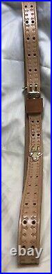 Rifle Sling Full Grain Leather-Spire Stamping Design 2 Week Lead Time