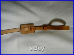 Rifle Sling, Leather, Leaping Deer Scene, Hand Crafted, Padded, Adjustable
